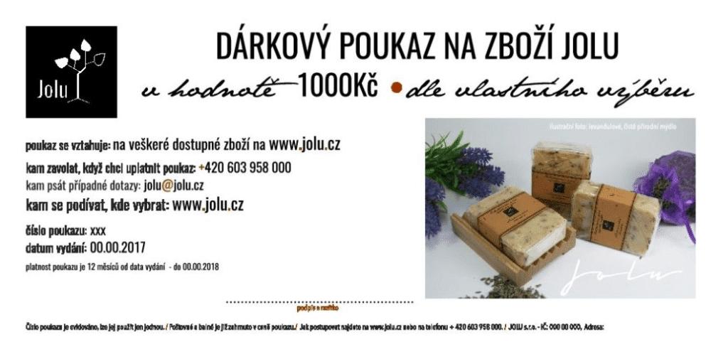 Dárkový poukaz JOLU.CZ